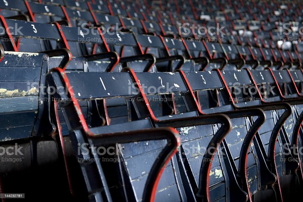 Fenway Park Stadium Seats royalty-free stock photo