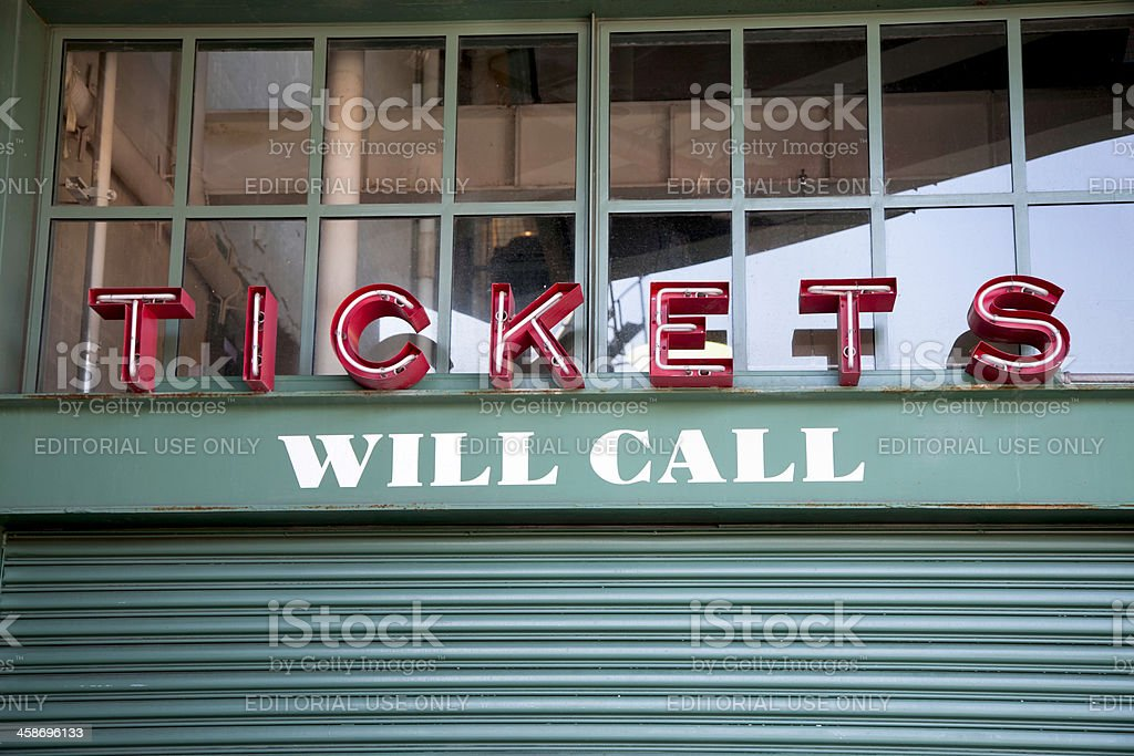 Fenway Park Will call ticket gate stock photo