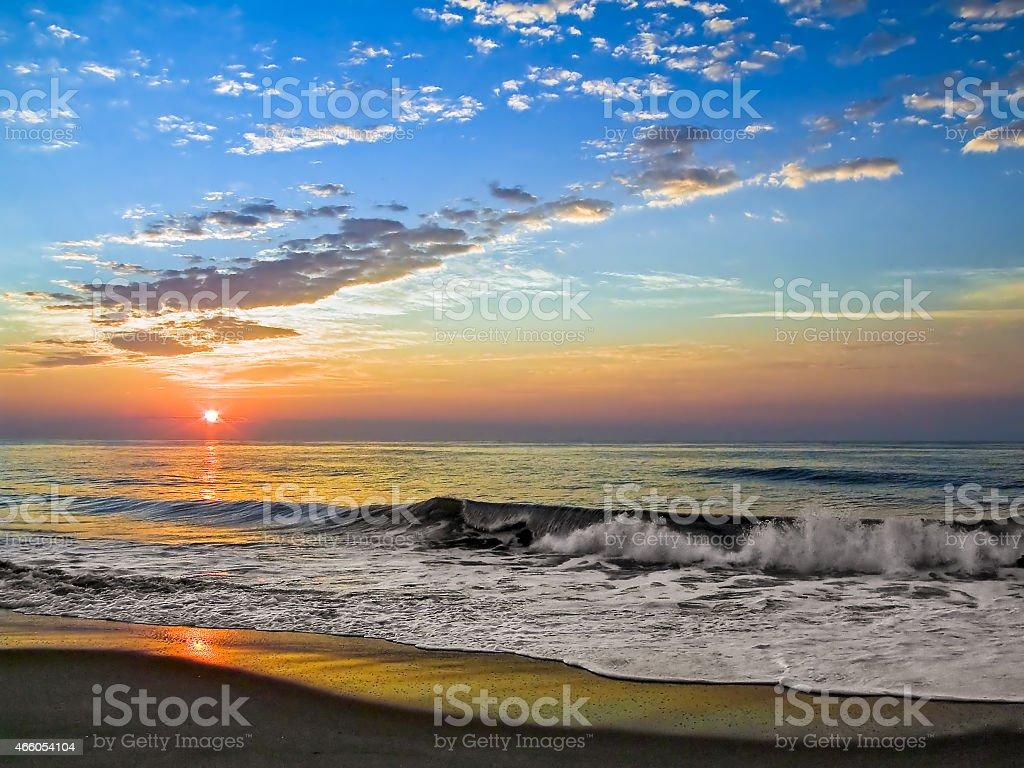 Fenwick Island Sunrise stock photo
