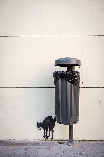 Crudele street art - foto stock