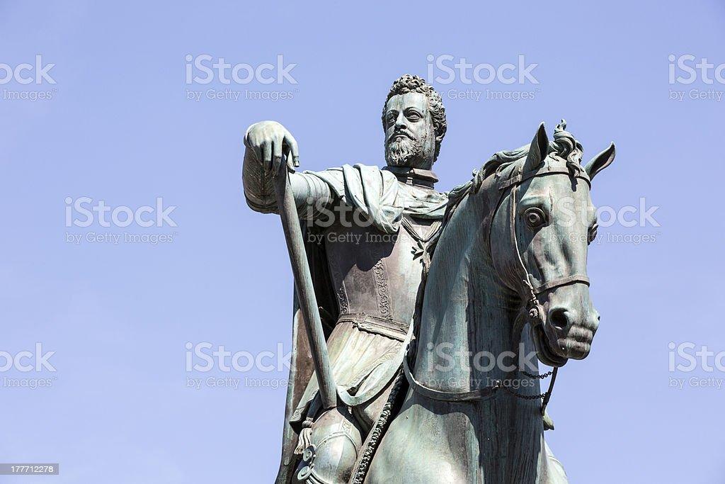 Ferdinando I de' Medici Bronze Statue in Firenze, Italy stock photo