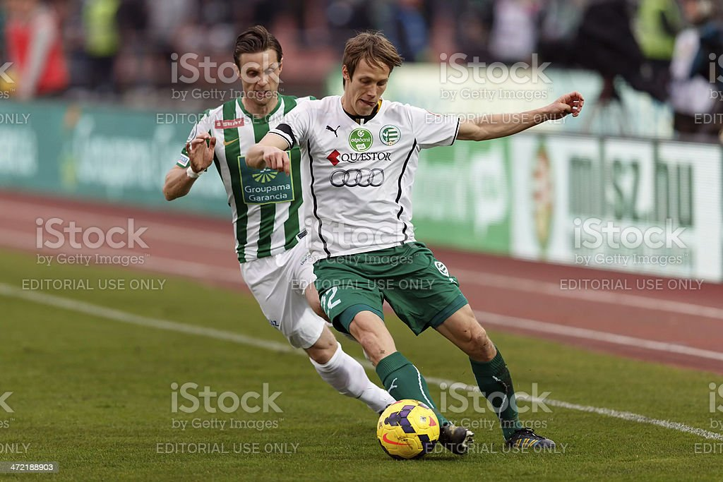 Ferencvaros vs. Gyori ETO stock photo