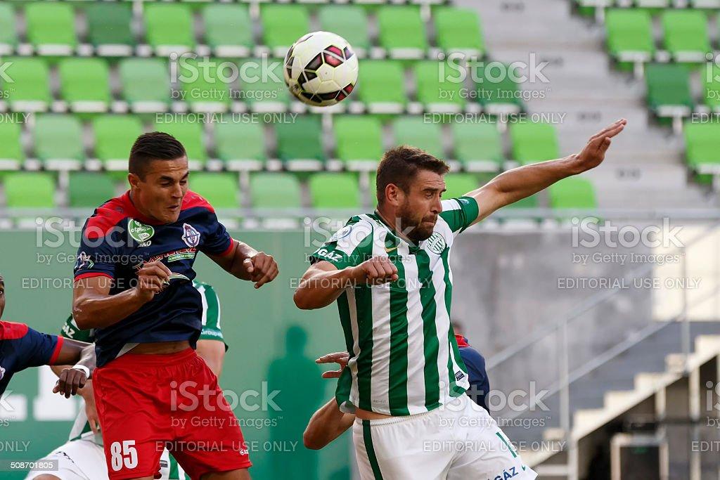 Ferencvaros vs. Nyiregyhaza OTP Bank League football match stock photo