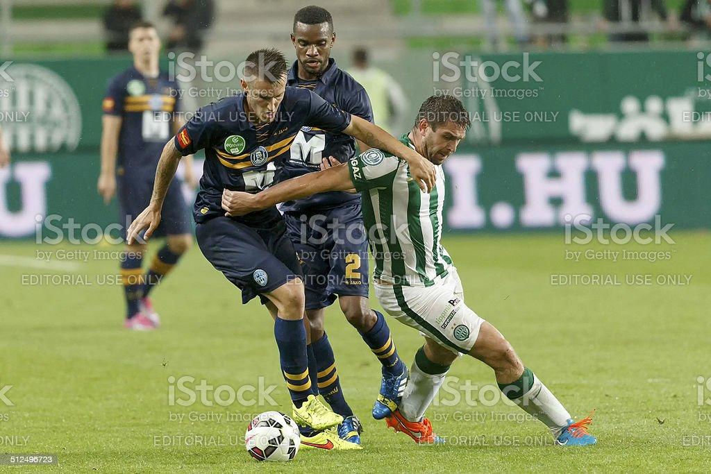 Ferencvaros vs. Puskas Akademia OTP Bank League football match stock photo