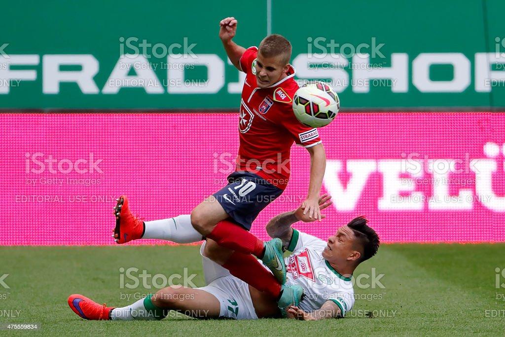 Ferencvaros vs. Videoton football match stock photo