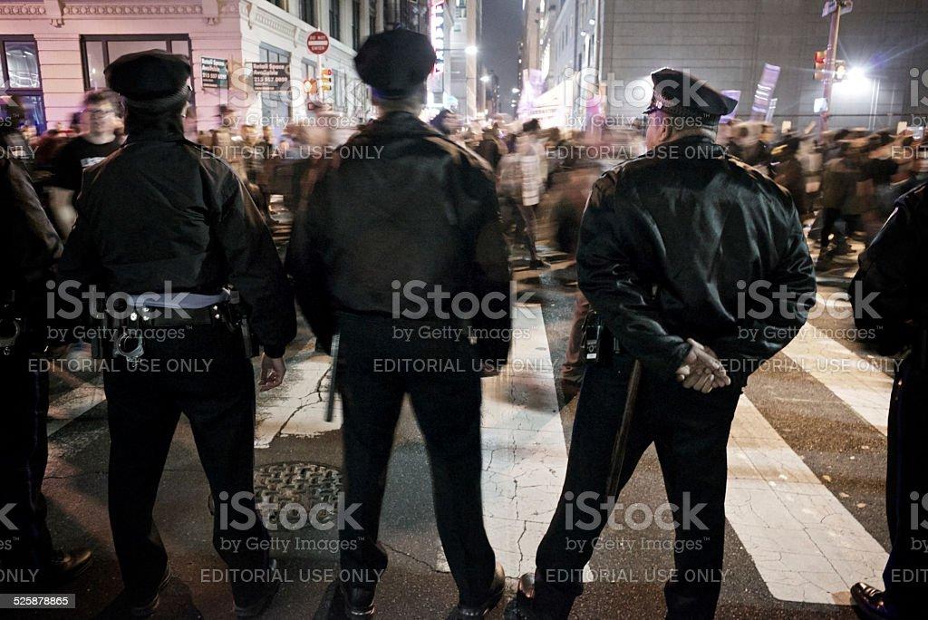 Ferguson Protest in Center City Philadelphia stock photo