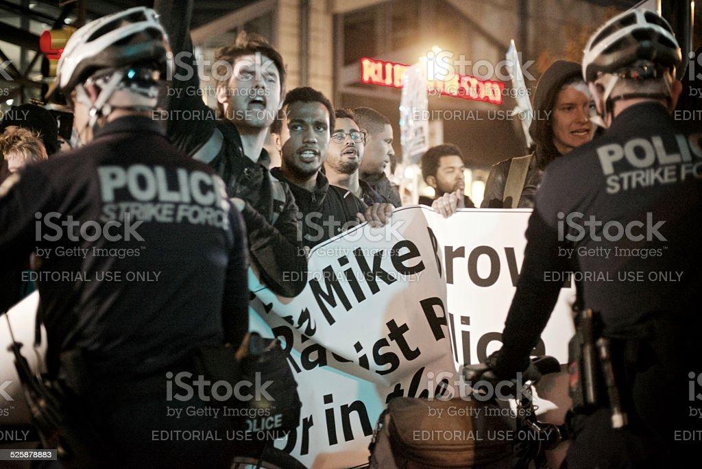 Ferguson Protest in Center City Philadelphia royalty-free stock photo