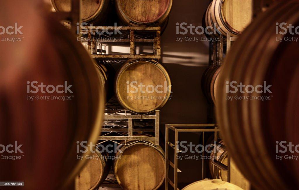 Fermentation in process stock photo
