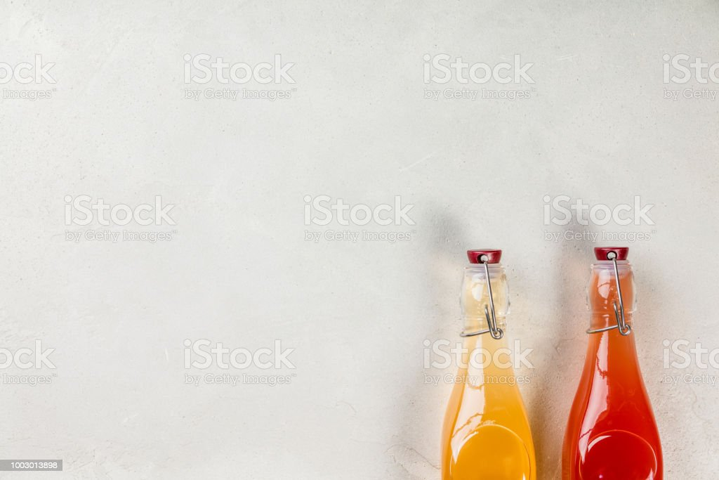Fermented drink concept - healthy lifestyle stock photo