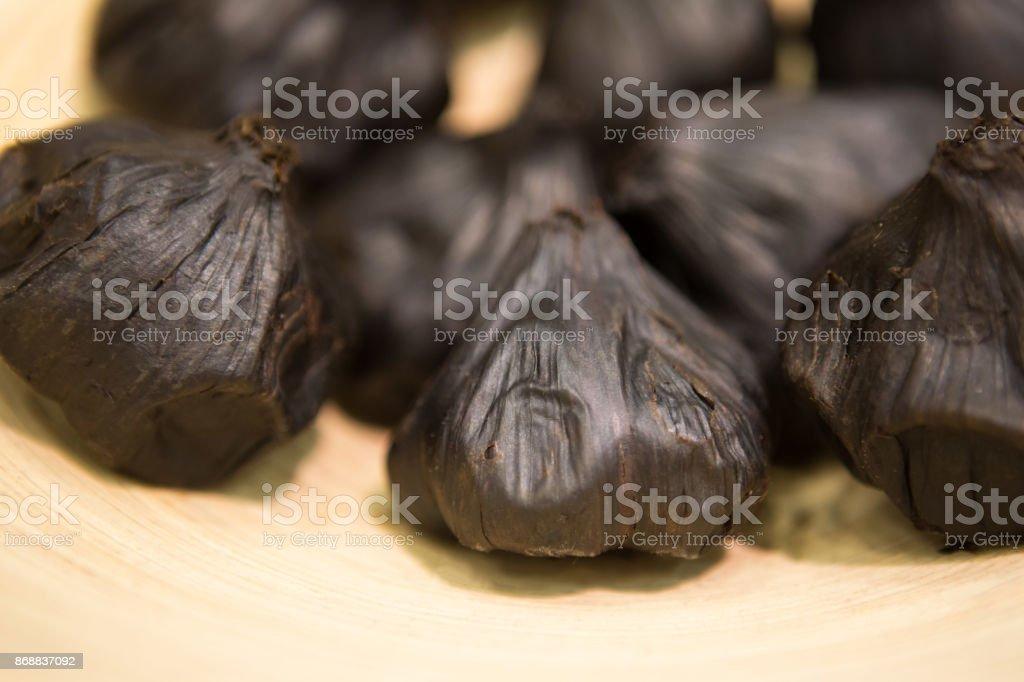 Fermented garlic stock photo
