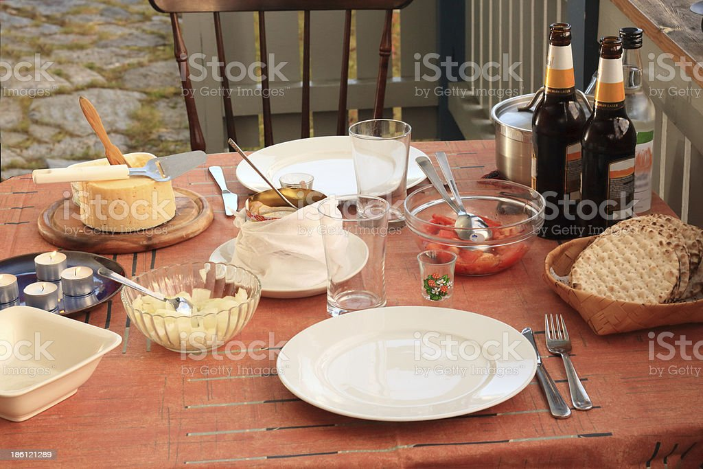 Fermented herring meal stock photo
