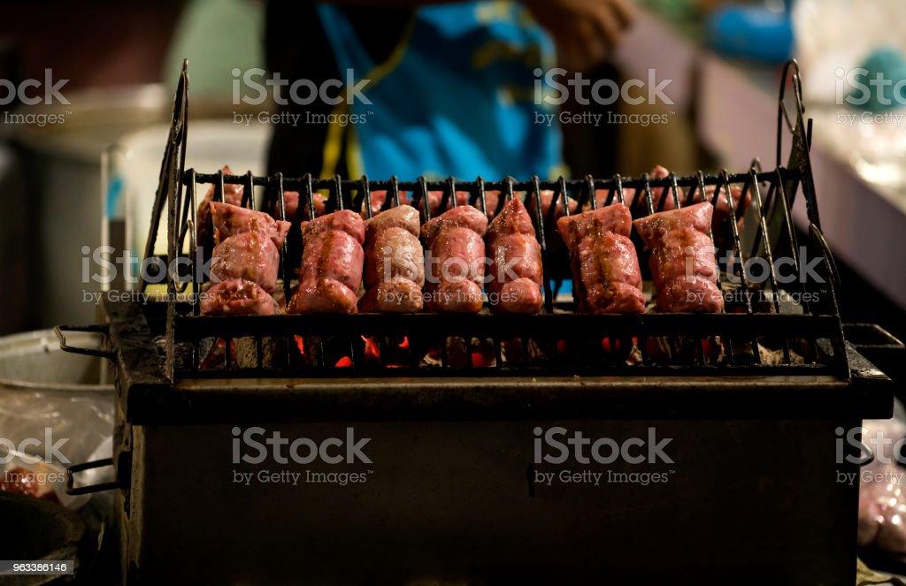 Fermented pork local food in Thailand - Zbiór zdjęć royalty-free (Azja)