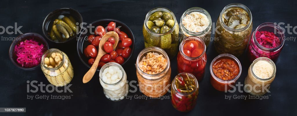 Fermented preserved food stock photo