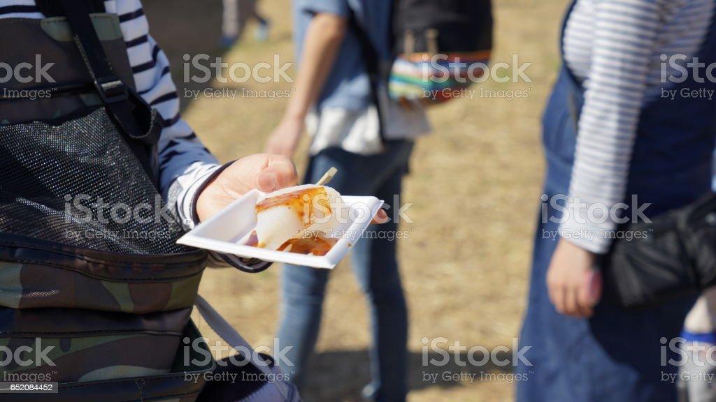 Se come la mezcolanza japonés de la pasta de soja fermentada. - foto de stock