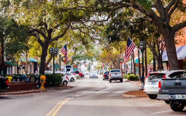 Fernandina Beach, Amelia Island, Florida. stock photo
