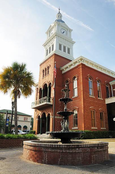 Fernandina Beach City Hall on Amelia Island Florida stock photo