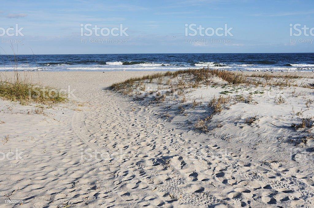 Fernandina Beach on Amelia Island stock photo