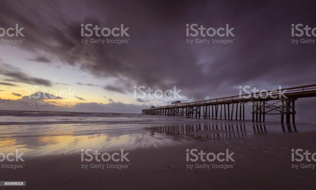 Fernandina Beach Pier stock photo