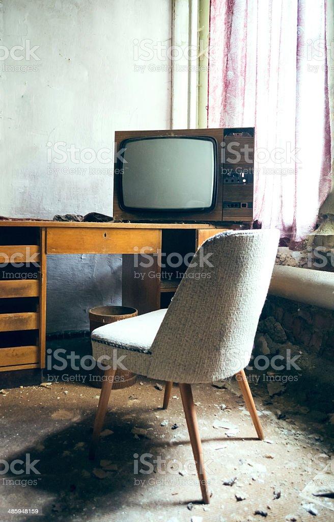 Fernseher aus alten Tagen stock photo