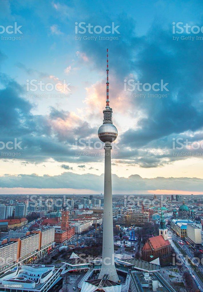 Fernsehturm - Berlin tv tower stock photo