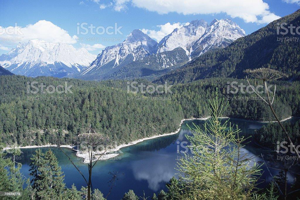 Fernstein lake royalty-free stock photo