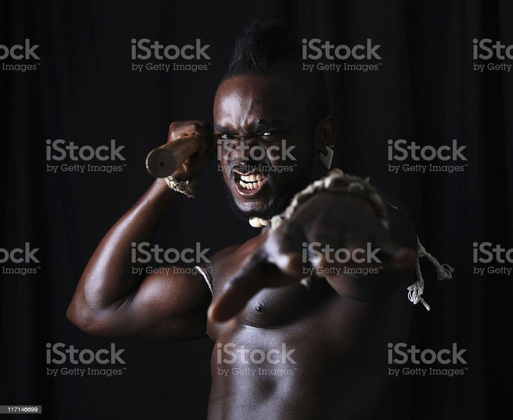 Ferocious Warrior stock photo