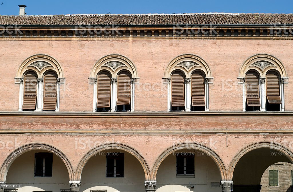 Ferrara (Italy) - Ancient building royalty-free stock photo