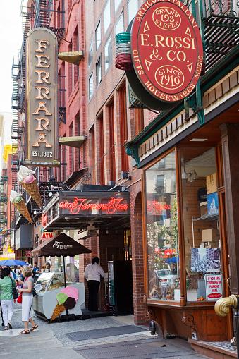 Ferrara Little Italy New York City Stock Photo
