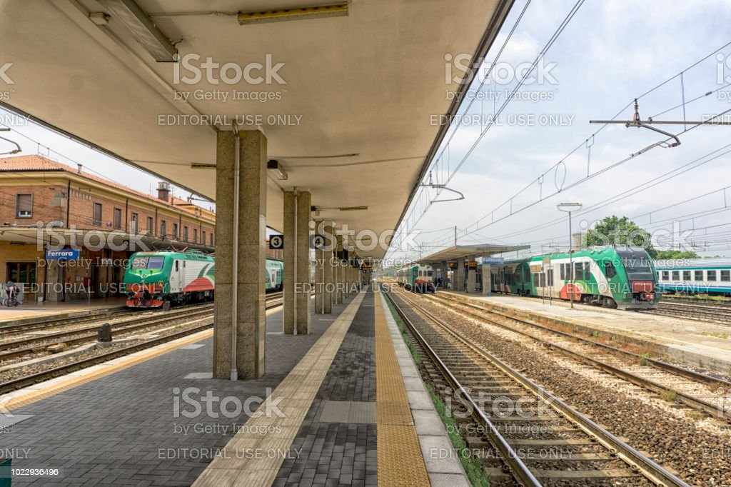 Ferrara train station stock photo