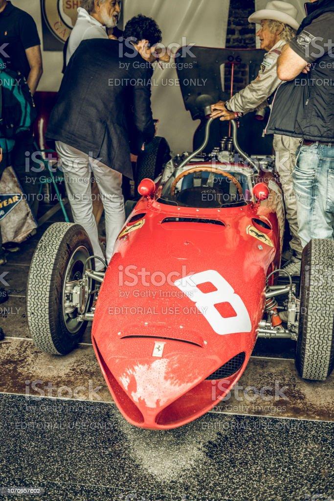 Ferrari 156 F1 1961 Formula 1 race car stock photo