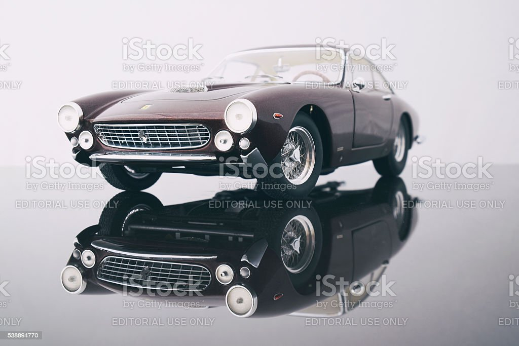 Ferrari 250 GT Lusso Model Car stock photo