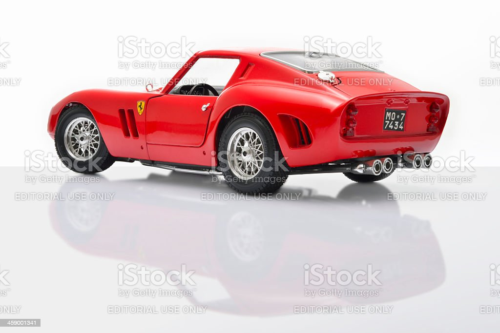 Ferrari 250 GTO model car stock photo