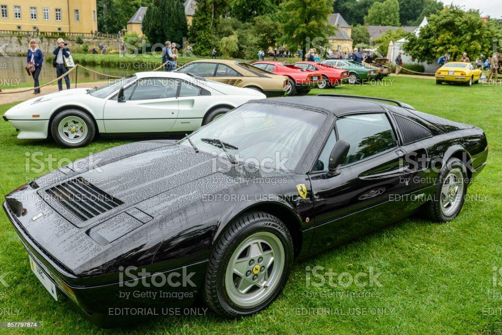 Ferrari 328 GTS Italian classic sports car stock photo