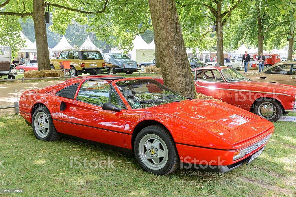 Ferrari 328 GTS Italian sports car stock photo