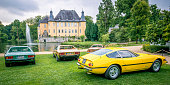Ferrari 365 GTB/4 Daytona Italian 1970s sports car in yellow