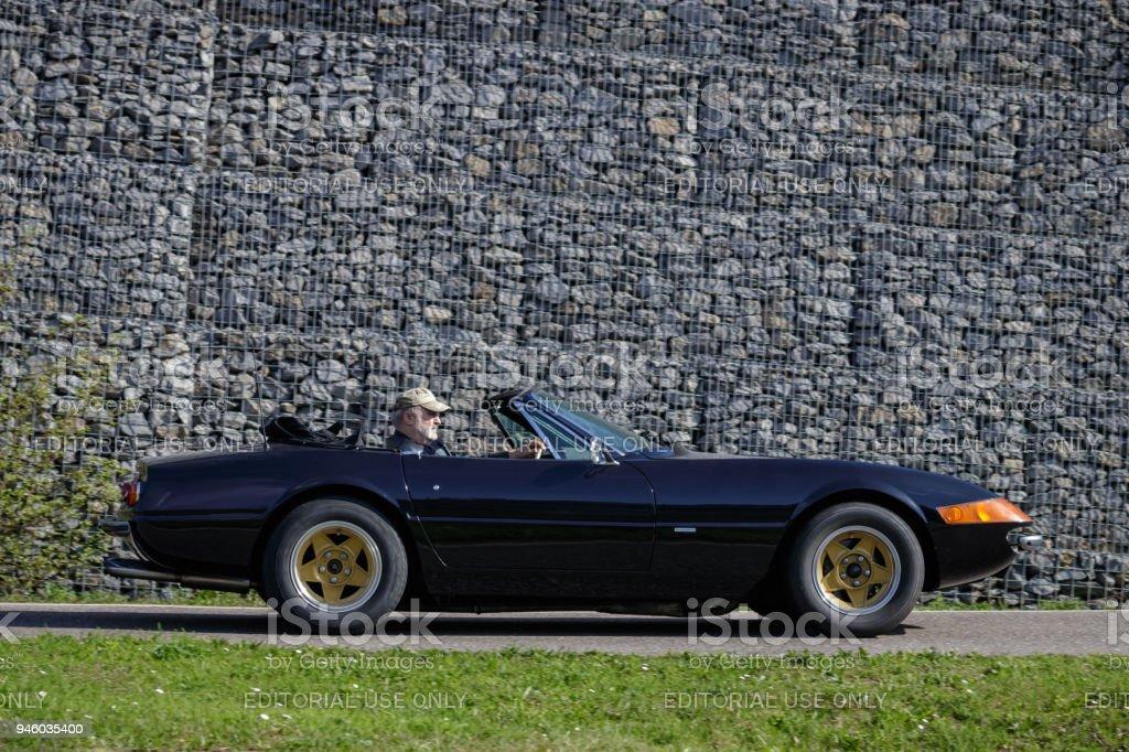 Ferrari 365 GTB/4 Daytona oldtimer car stock photo