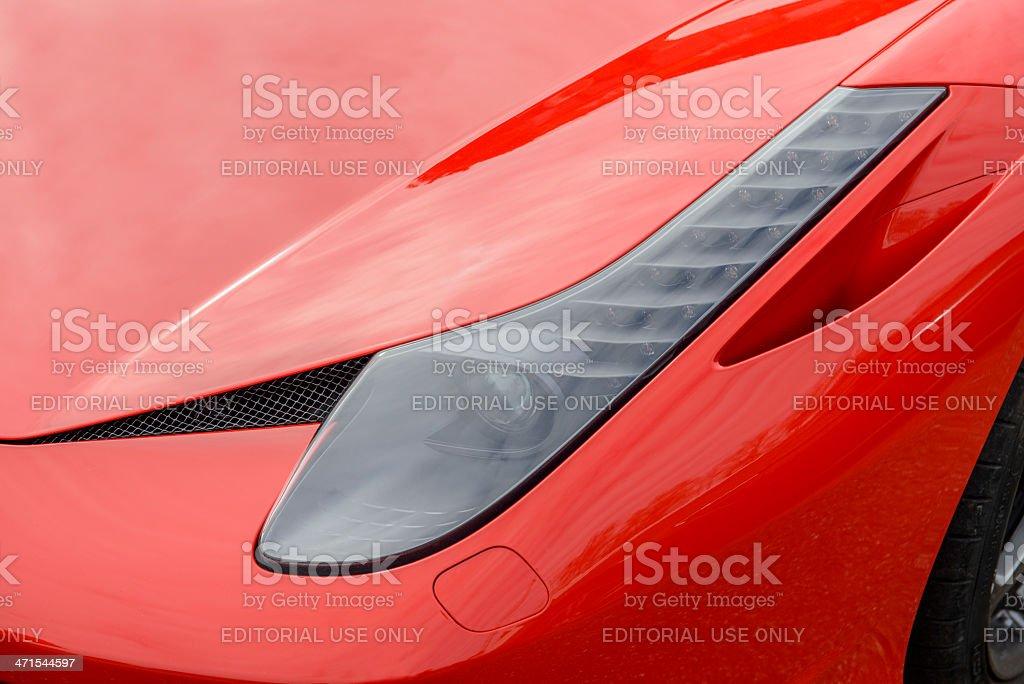 Ferrari 458 Italia detail stock photo