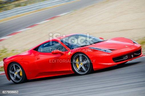istock Ferrari 458 Italia exclusive V8 Italian sports car 627958652