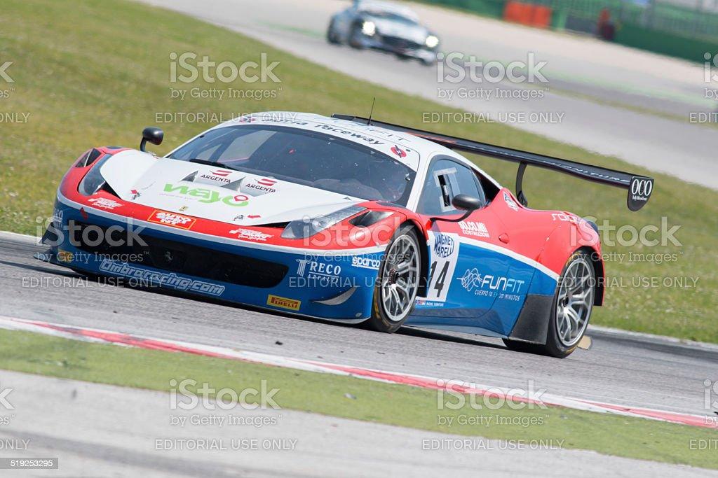 Misano Adriatico, Rimini, Italy - May 10, 2014: A Ferrari 458 Italia...