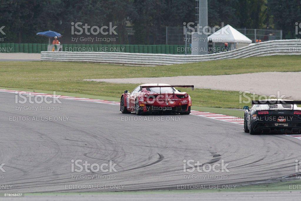 Ferrari 458 Italia Gt3 race car stock photo
