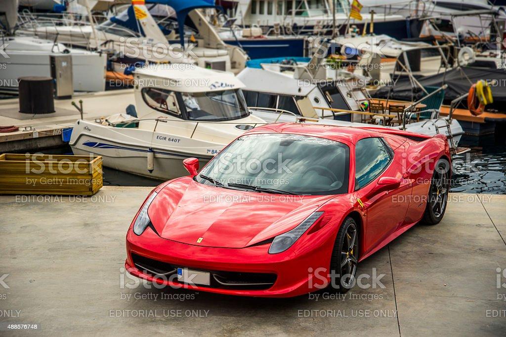 Ferrari 458 Italia. stock photo
