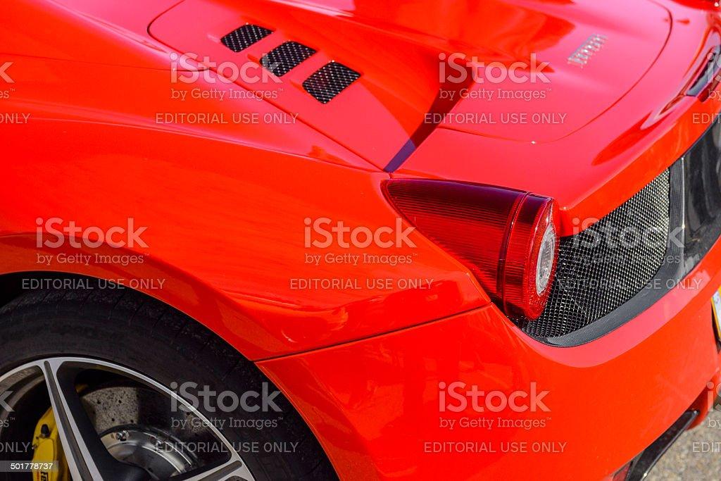 Ferrari 458 Italia Spider detail stock photo