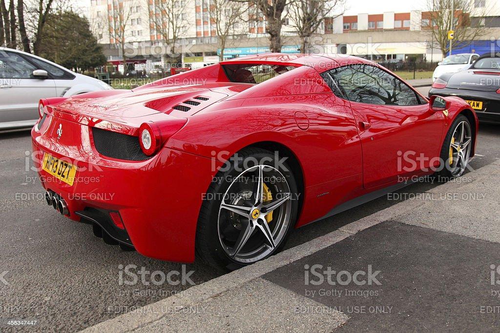 Ferrari 458 Spider stock photo