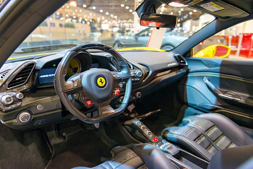 Ferrari 488 Gtb Sports Car Interior Stock Photo Download Image Now Istock