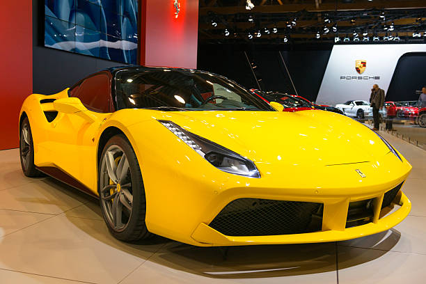 382 Yellow Ferrari Stock Photos Pictures Royalty Free Images Istock