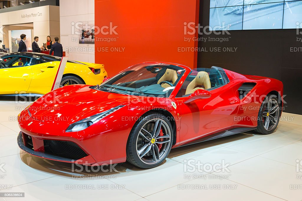 Ferrari 488 Spider Sports Car Stock Photo Download Image Now Istock