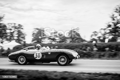 Ferrari 500 Mondial replica racing car Swedish Ockelbo-Volvo Sport Racer doing a demonstration drive during the 2017 Classic Days event at Schloss Dyck.