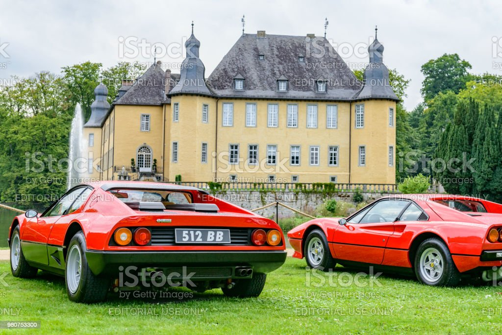 Ferrari 512 Bb Or Berlinetta Boxer And Ferrari 308 Gtb Stock Photo -  Download Image Now