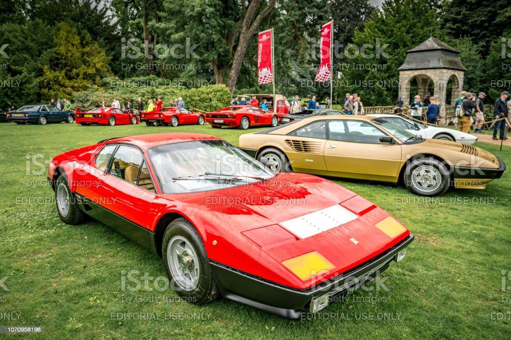 Ferrari 512 BB or Berlinetta Boxer Italian 1970s sports car stock photo