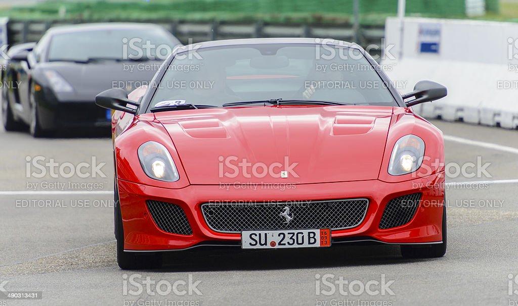 Ferrari 599 GTO V12 high performance racing car stock photo